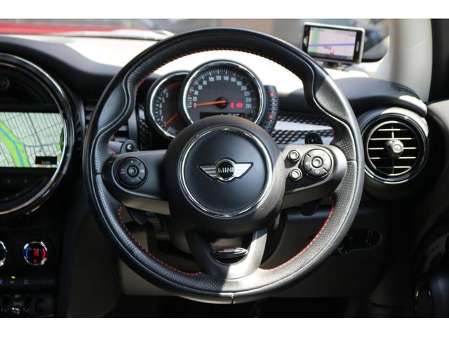 3ドア COOPER S MSKフロントリップ GIGAMOT17インチアルミ&ダウンサス 純正HDDナビ JCWステアリング ドライビングモード マルチファンクションステアリング LEDヘッドライト オートライト ETC(26枚目)