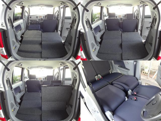 ご覧のように多彩なシートアレンジが可能です★助手席も前倒しにすれば長い荷物も載せられます★