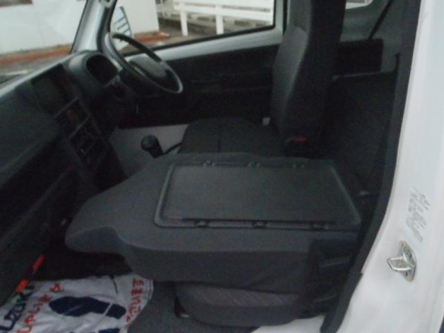 助手席背面はシートバックテーブルとして使えます