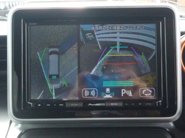 車庫入れが苦手な方も安心の全方位モニター装備しています