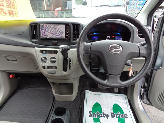 X SA HDDナビ ワンセグTV Bluetooth CD録音 DVD再生 ETC 衝突被害軽減ブレーキ i-STOP 純正アルミ タイヤ新品 キーレス 電動格納ドアミラー プライバシーガラス 後期モデル(3枚目)