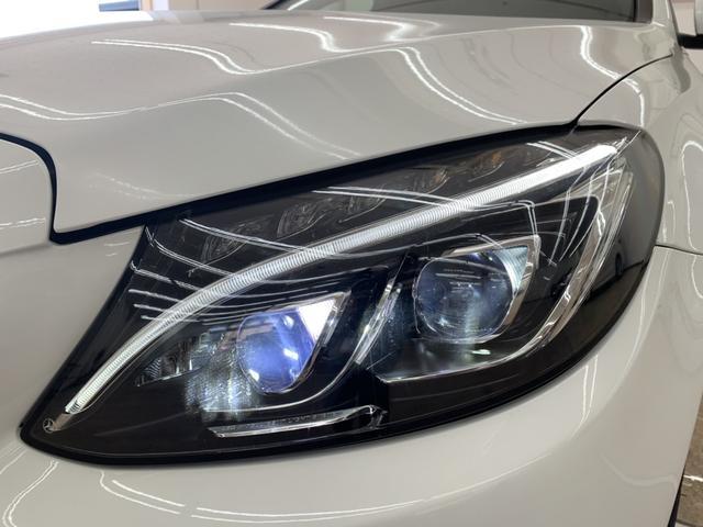 C180アバンギャルド AMGライン スマートキー LEDヘッドライト レザーシート レーダーセーフティ 純正ナビ フルセグ パワーシート シートヒーター パドルシフト ETC(9枚目)