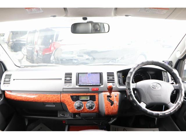 ロングスーパーGL モデリスタフロントリップ Wedsホイール 助手席エアバック HDDナビ フルセグ AC100V ETC 黒革調シートカバー 両側スライドドア 小窓付(3枚目)