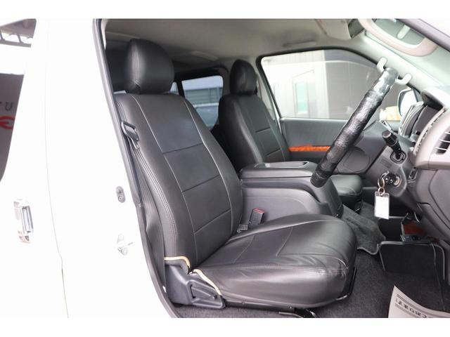 ロングスーパーGL モデリスタフロントリップ Wedsホイール 助手席エアバック HDDナビ フルセグ AC100V ETC 黒革調シートカバー 両側スライドドア 小窓付(7枚目)