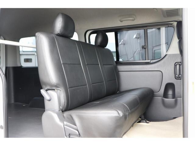 ロングスーパーGL モデリスタフロントリップ Wedsホイール 助手席エアバック HDDナビ フルセグ AC100V ETC 黒革調シートカバー 両側スライドドア 小窓付(8枚目)