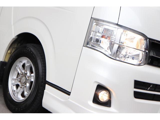 ロングスーパーGL モデリスタフロントリップ Wedsホイール 助手席エアバック HDDナビ フルセグ AC100V ETC 黒革調シートカバー 両側スライドドア 小窓付(20枚目)