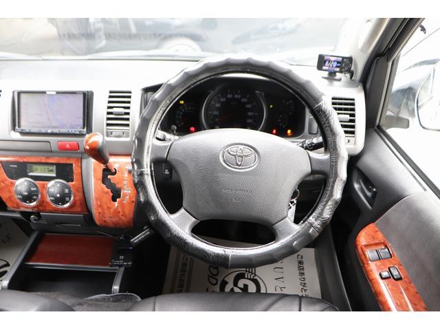 ロングスーパーGL モデリスタフロントリップ Wedsホイール 助手席エアバック HDDナビ フルセグ AC100V ETC 黒革調シートカバー 両側スライドドア 小窓付(29枚目)