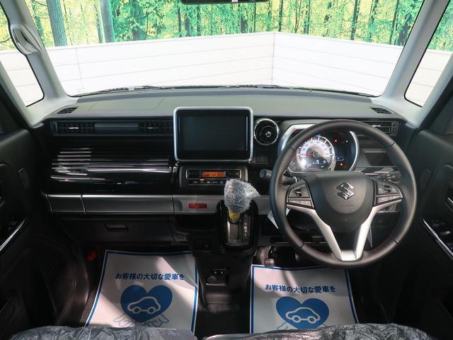 ハイブリッドXS 禁煙車 両側電動スライドドア スズキセーフティサポート クリアランスソナー シートヒーター 車線逸脱警報機能 LEDヘッドライト LEDフロントフォグライト 純正アルミホイール ステアリングスイッチ(2枚目)