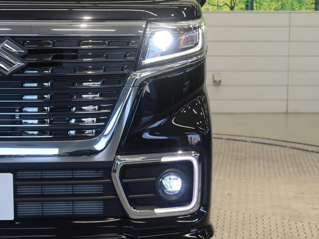 ハイブリッドXS 禁煙車 両側電動スライドドア スズキセーフティサポート クリアランスソナー シートヒーター 車線逸脱警報機能 LEDヘッドライト LEDフロントフォグライト 純正アルミホイール ステアリングスイッチ(10枚目)