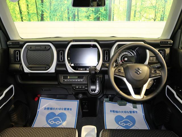 ハイブリッドXターボ メーカー9型ナビ 全周囲モニター ビルトインETC 前席シートヒーター クリアランスソナー LEDヘッドライト ターボ車 純正アルミホイール 車線逸脱警報 レーダークルーズコントロール スマートキー(2枚目)