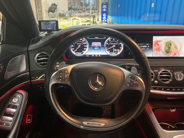 S63 AMG 4マチックロング 左H 黒革 パノラマSR LEDヘッドライト レーダーセーフティ HDDナビ DTV Bカメラ 360° パワーシート シートヒーター ベンチレーター  エアサス キーレスゴー(3枚目)