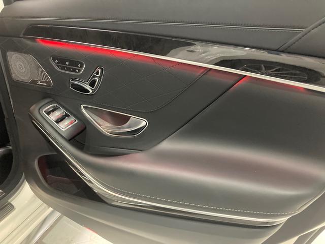 S63 AMG 4マチックロング 左H 黒革 パノラマSR LEDヘッドライト レーダーセーフティ HDDナビ DTV Bカメラ 360° パワーシート シートヒーター ベンチレーター  エアサス キーレスゴー(44枚目)