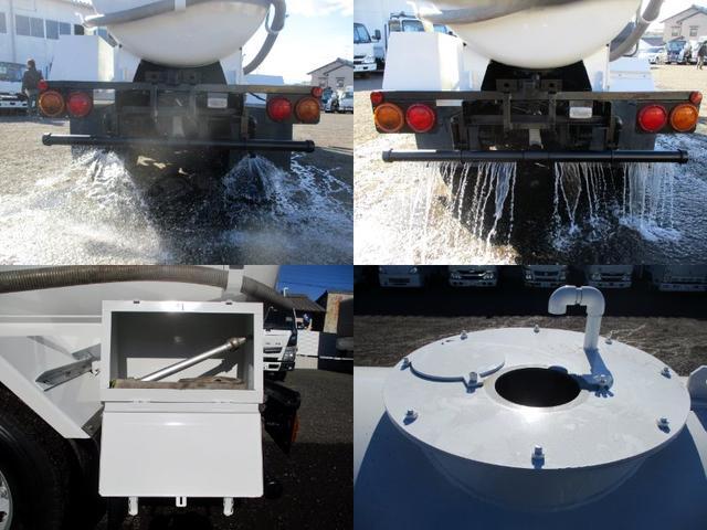散水車 前後散水 放水銃 吸水ポンプ 新車架装 動作確認済(11枚目)
