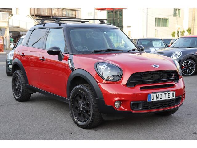 クーパーS クロスオーバー ソリッドレーシング16インチアルミ リフトアップ THULEルーフトップテント パドルシフト ブラックインナーヘッド HID ETC AUX スポーツシート プッシュスタート オートライト(11枚目)