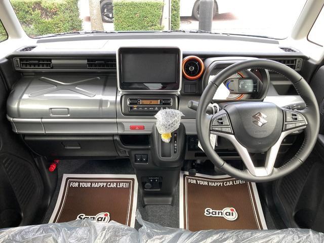 ハイブリッドXZ 届出済未使用車 デュアルカメラブレーキ LEDライト ベンチシート フルフラット シートヒーター マイルドハイブリッド スマートキー プッシュスタート アダプティブクルーズコントロール 軽自動車(13枚目)