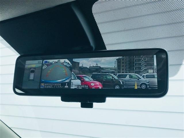 ☆インテリジェントルームミラー!簡単なレバー操作で通常ミラーからカメラ映像へと切り替えが可能です。夜間や雨天時でもクリアな後方の視界を確保できます。