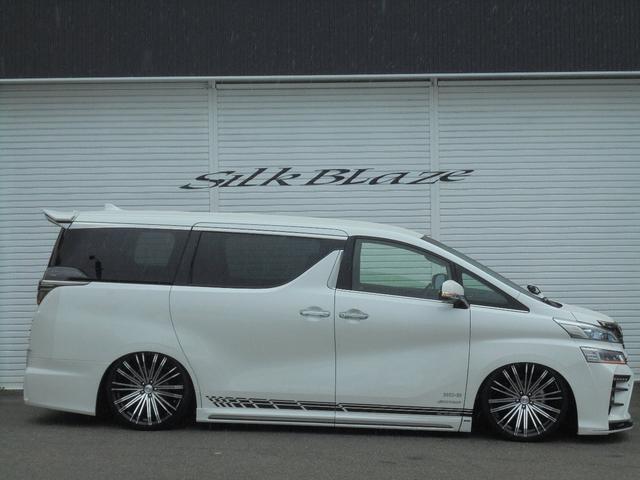 トヨタ ヴェルファイア 新車後期シルクブレイズGLANZENアルパインナビ21アルミ