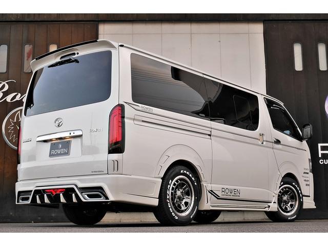 スーパーGL ダークプライムII 新車未登録 ディーゼルターボ ROWENコンプリート仕様 ROWENエアロKIT 玄武ローダウン WORK16インチAW LEDテールレンズ ハーフレザー トヨタセーフティセンス(7枚目)