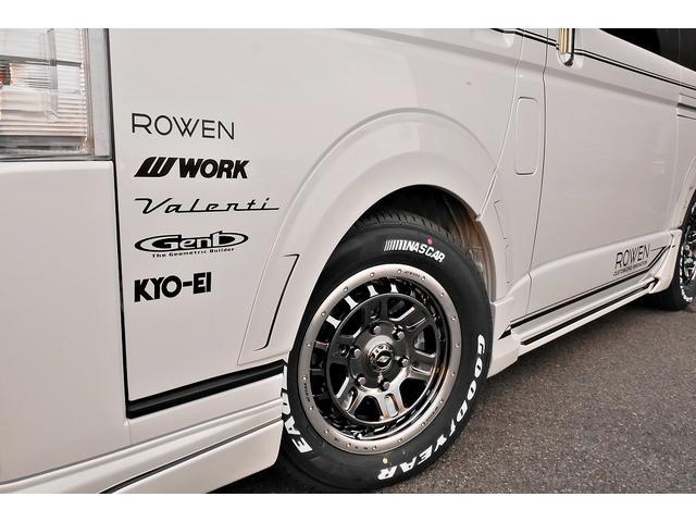 スーパーGL ダークプライムII 新車未登録 ディーゼルターボ ROWENコンプリート仕様 ROWENエアロKIT 玄武ローダウン WORK16インチAW LEDテールレンズ ハーフレザー トヨタセーフティセンス(8枚目)