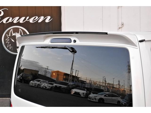 スーパーGL ダークプライムII 新車未登録 ディーゼルターボ ROWENコンプリート仕様 ROWENエアロKIT 玄武ローダウン WORK16インチAW LEDテールレンズ ハーフレザー トヨタセーフティセンス(14枚目)