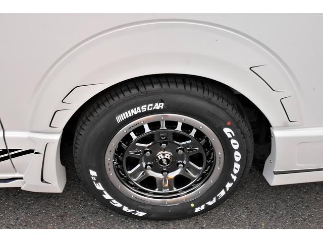 スーパーGL ダークプライムII 新車未登録 ディーゼルターボ ROWENコンプリート仕様 ROWENエアロKIT 玄武ローダウン WORK16インチAW LEDテールレンズ ハーフレザー トヨタセーフティセンス(15枚目)