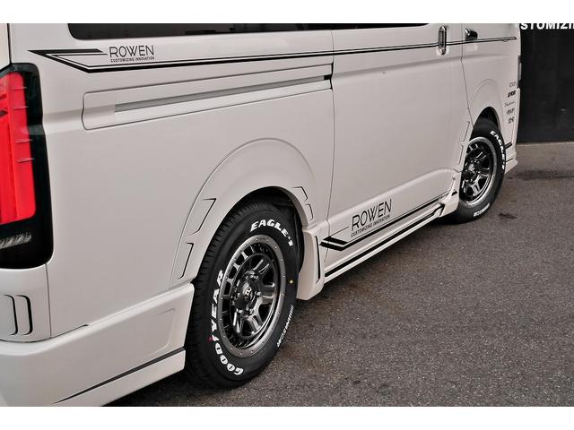 スーパーGL ダークプライムII 新車未登録 ディーゼルターボ ROWENコンプリート仕様 ROWENエアロKIT 玄武ローダウン WORK16インチAW LEDテールレンズ ハーフレザー トヨタセーフティセンス(17枚目)