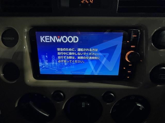 とても使いやすいKENWOODナビ! CD,DVD,フルセグTV、Bluetooth付き!