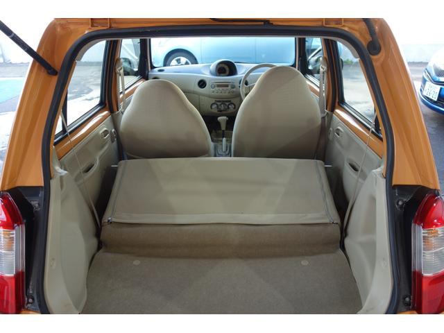 シートを倒せばこの通り。このくらいスペースが確保されればこの車のスペックでは上出来です♪