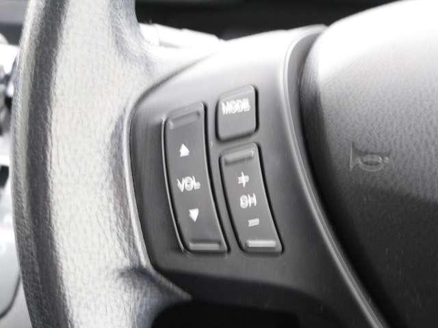 ステアリングから手を離さずにオーディオの操作できる『オーディオリモートコントロールスイッチ』が付いています!運転中でも簡単にオーディオの操作ができます♪