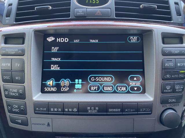 Cタイプ Fパッケージ 後期型 黒革 サンルーフ 純正HDDナビ フルエアロ エアサスコントローラー 新品シュタイナー20AW 新品タイヤ  ウィンカーミラー スモーク施工済み メッキピラー DVD再生 地デジ ロゴカーテシ(7枚目)