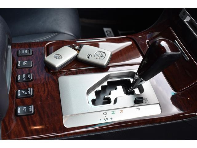 Cタイプ Fパッケージ 後期型 黒革シート サンルーフ HDDナビ DVD再生可能 フルエアロ エアサスコントローラー WORK20インチ カラーキャリパー LEDフォグ シートヒーター タイミングベルト交換済 ETC(13枚目)