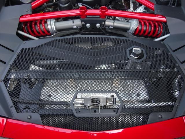 LP750-4 アヴェンタドール SV 世界限定600台 ディーラー車 カーボンインテリア パワークラフト可変マフラー&キャタストレート 純正マフラー有 フルプロテクションフォルム施工 SVビックデカール 備品全有(46枚目)