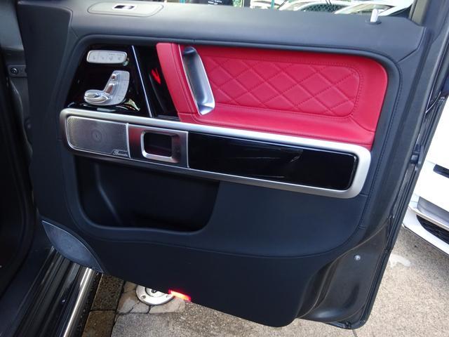 G63 G63AMG エクスクルーシブPKG ナッパレザー赤革S 電動スライディングルーフ AMGパフォーマンスエキゾーストシステム ツートンラッピング 22AWピレリ新品 新品AMGマット 取保記スペア有り(35枚目)