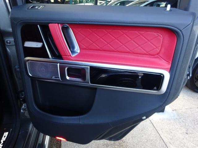 G63 G63AMG エクスクルーシブPKG ナッパレザー赤革S 電動スライディングルーフ AMGパフォーマンスエキゾーストシステム ツートンラッピング 22AWピレリ新品 新品AMGマット 取保記スペア有り(38枚目)