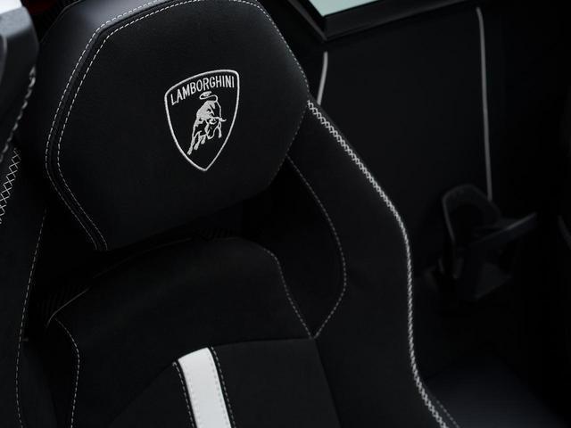 バケットシートは、カーボン製のシェルを持つ軽量モデル。表皮はアルカンターラとなっている。