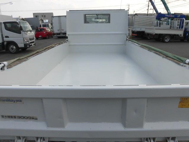 全低床3トン積ダンプ新明和製 コボレ-ン付 集中ドアロック(12枚目)