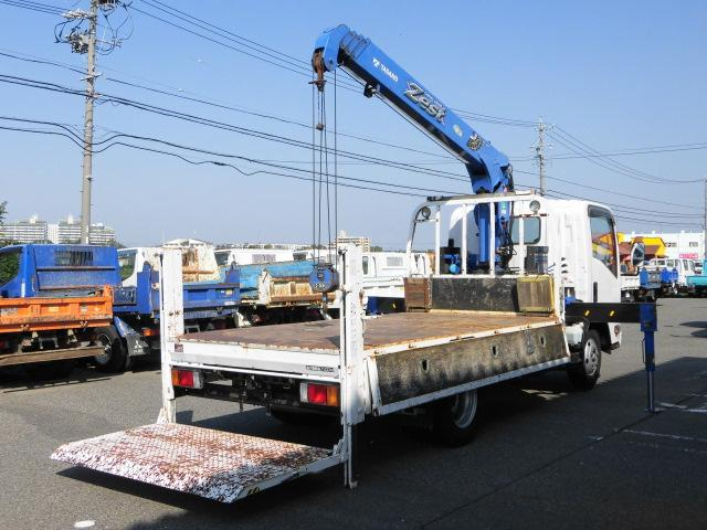 全低床ロング平ボディ・4段クレーン・垂直P/G・2.5トン積(10枚目)