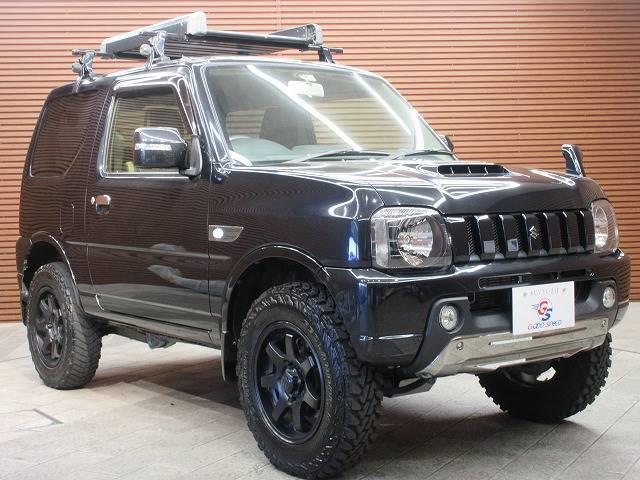ランドベンチャー 4WD 社外マフラー 社外AW 5速MT ターボ オーディオ 背面タイヤ レザーシート シートヒーター ステアリングリモコン TERZOルーフキャリア ツィーター フォグランプ(17枚目)
