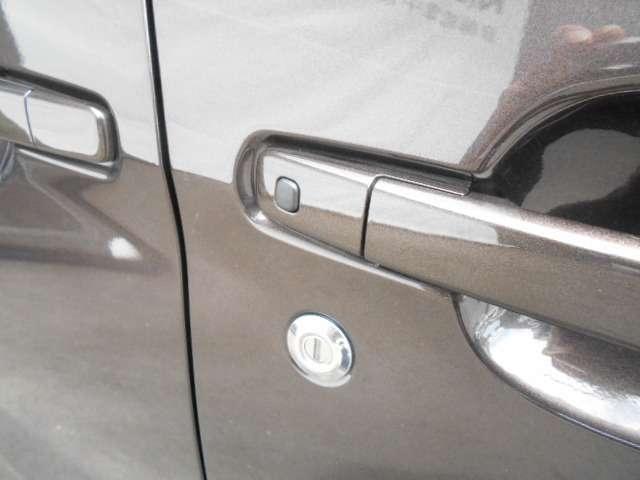 ワンタッチでドアロック/ロック解除ができる、インテリジェントキーのリクエストスイッチ。
