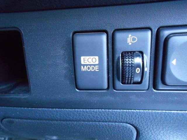 エコモードスイッチ装備、ふんわりアクセルでお財布にもやさしい走りができます