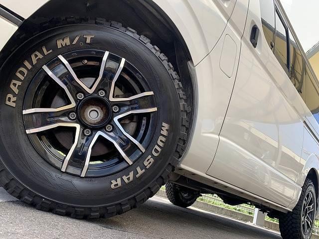 DX GLパッケージ 社外ナビ グリルガード マッドスターマッドテレンタイヤ インナーブラックヘッド ETC車載器 アゲカスタム(18枚目)