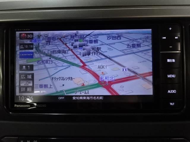 ストラーダ地デジSDナビを装備☆フルセグTV・DVD再生・Bluetoothなどの機能を装備☆