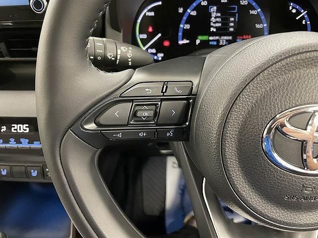 HYBRID Z 新車未登録 ステアリングヒーター ブラインドスポット パノラミックビュー LED シートヒーター bluetooth レーダークルーズコントロール 純正AW スマートキー(9枚目)