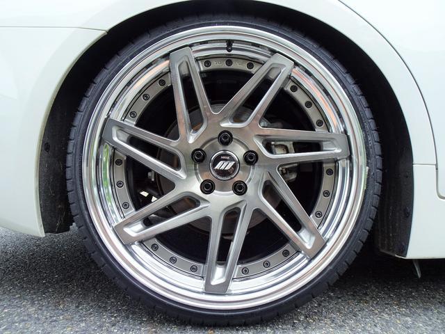 350GT ハイブリッド タイプP 黒革ヒーター付シート 新品WORKジーストST3トランスグレーポリッシュ20インチホイール&タイヤ 新品ブリッツ車高調(19枚目)