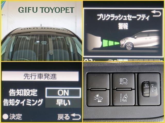 トヨタの安全装備TSSです。衝突被害軽減ブレーキシステム、車線逸脱予防機能、オートマチックハイビームが付いています。機能を過信されないよう、安全運転でお願い致します!
