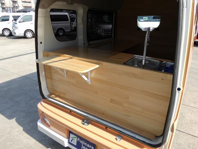 GX ハイルーフ 移動販売車 キッチンカー 軽自動車加工車8ナンバー登録 給水排水タンク 2槽シンク カウンターテーブル 100Vコンセント(2枚目)