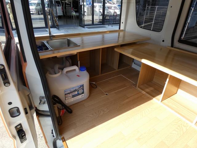 GX ハイルーフ 移動販売車 キッチンカー 軽自動車加工車8ナンバー登録 給水排水タンク 2槽シンク カウンターテーブル 100Vコンセント(10枚目)