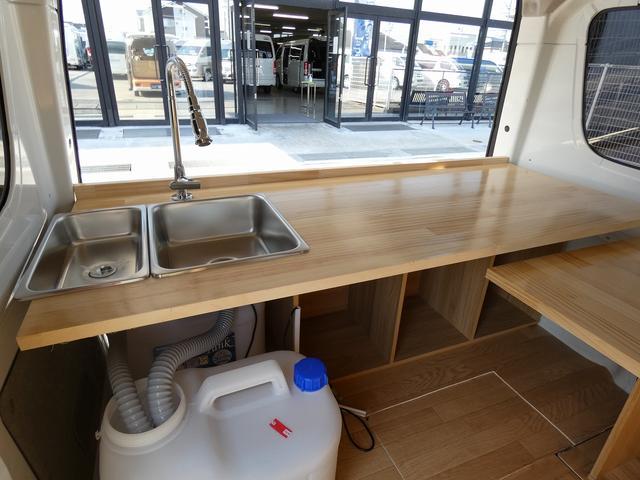 GX ハイルーフ 移動販売車 キッチンカー 軽自動車加工車8ナンバー登録 給水排水タンク 2槽シンク カウンターテーブル 100Vコンセント(12枚目)