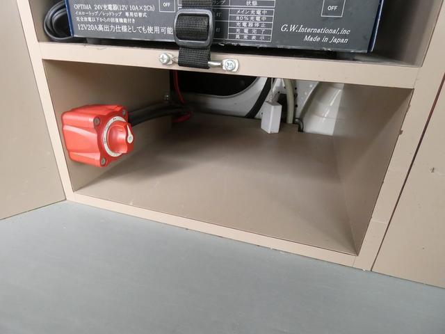 移動事務室車 事務室車8ナンバー登録 ウィンドウエアコン トリプルサブバッテリー バッテリー充電機 インバーター SDナビ ETCユニット インテリジェントキー ドライブレコーダー(12枚目)