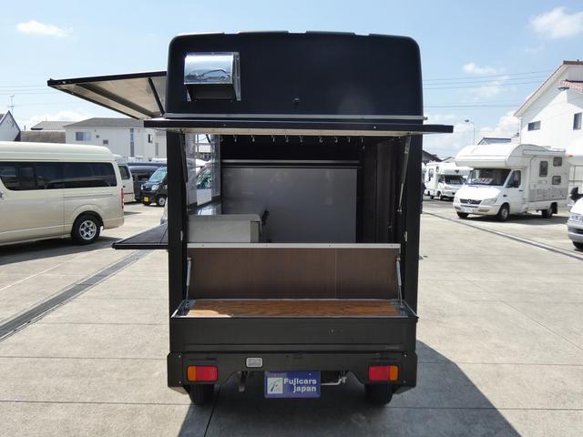 移動販売車 キッチンカー 4ナンバー登録 ホシザキ製コールドテーブル インバーター ライティングレール LED室内照明 アクリルウィンドウ 跳ね上げ式販売口 販売カウンター 外部電源 コンセント(46枚目)